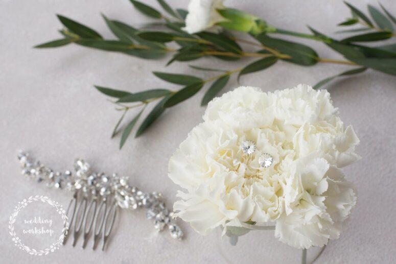 srebrny zestaw biżuterii z połysującym grzebykiem i kolczykami EPIA