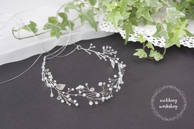 biżuteria ślubna srebrna opaska ALISA BASIC