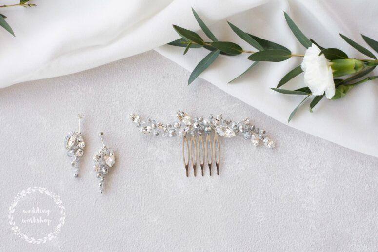 srebrne dodatki biżuteryjne na ślub NILDA